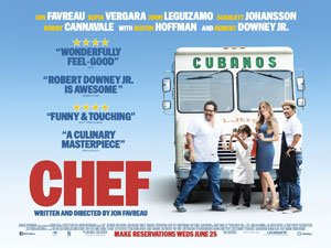 Chef, Chef film, Chef movie, food porn, Jon Favreau, Dustin Hoffman, Robert Downey jr., Scarlett Johansson, Sofia Vergara John Leguizamo, comedy, film movie review - HeadStuff.org