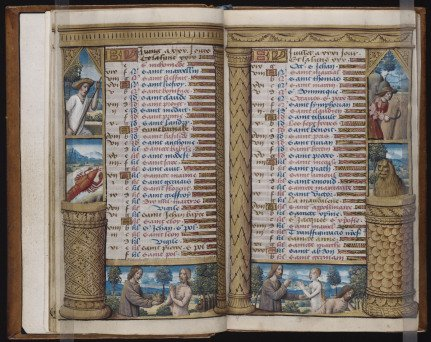 Vanderbilt hours, french book of hours, creepy manuscripts, book of dead - HeadStuff.org