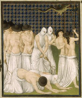 Belles Heures, Jean Duc de berry flagellants, creepy manuscript, halloween week, halloween read - HeadStuff.org