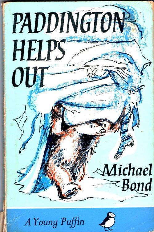 Paddington Bear, Paddington Helps Out, Book cover, Michael Bond, Illustration, illustrated by peggy fortnum, colour, article about paddington bear, history of paddington, books that stay with you, top ten books, favourite books, best childrens books, childhood book - HeadStuff.org