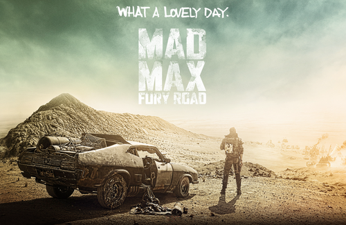 Mad Max: Fury Road poster showing Tom Hardy