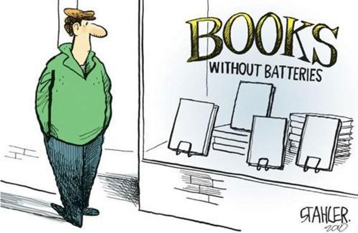 Books are not dead, books without batteries, amazon machete, kindle, ebooks, literature news, book news - HeadStuff.org