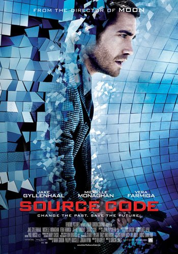 Source Code, move poster from the director of Moon, Duncan Jones starring michelle monaghan, jake gyllenhaal, vera farming, sic fi, time travel - HeadStuff.org