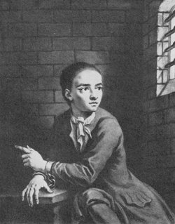 Jack Sheppard in Newgate Prison. Engraving made based on a sketch by the artist James Thornhill, one of the celebrities who visited him, Jonathan Wild, manipulative criminal from history - HeadStuff.org