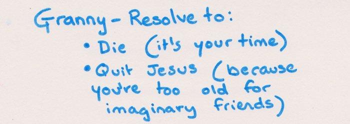 Silvia's Granny's Resolutions - Headstuff.org