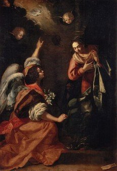 Renaissance painting of the Biblical scene of Gabriel appearing to Mary - HeadStuff.org