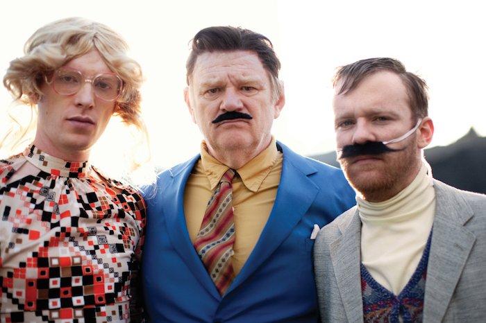 Domhnall, Brendan and Brian Gleeson in The Walworth Farce - Headstfuff.org