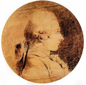 Sepia drawing of the Marquis de Sade - headstuff.org