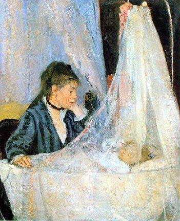 Berthe Morisot, Le berceau(The_Cradle), 1872-Headstuff.org