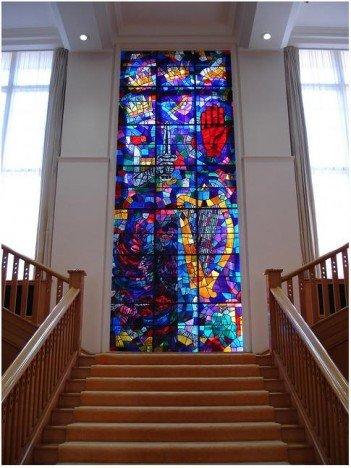 Evie Hone Window, Government Buildings, Dublin, Ireland.-headstuff.org