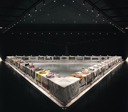 The Dinner Party, Judy Chicago via The Brooklyn Musuem-headstuff.org
