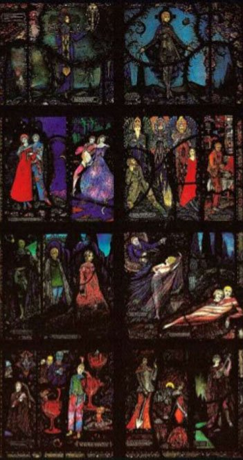 Harry Clarke: The Geneva Window, 1929, Wolfsonian Institute, Florida International University, Miami.-Headstuff.org