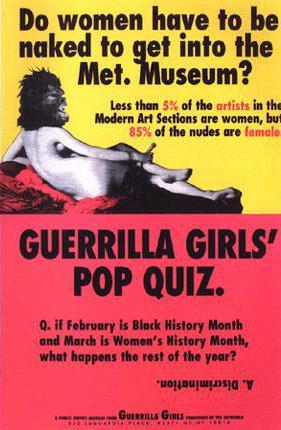 Guerilla Girls Poster-Headstuff.org