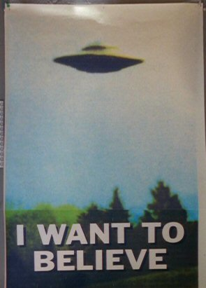 Mulder's UFO poster from the X-Files - headstuff.org
