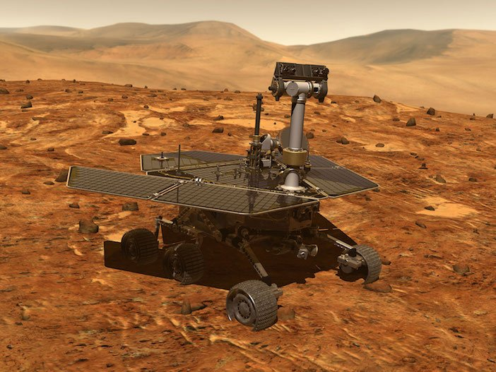 NASA image of Mars Rover on surface of Mars