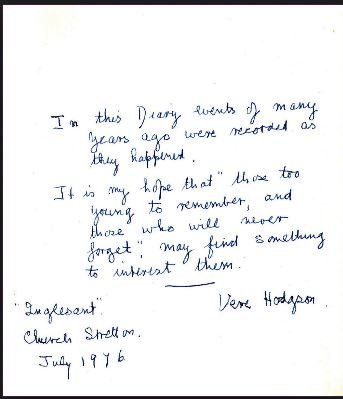 The dedication page from Few Oranges And No Fruit by Vere Hodgson - headstuff.org