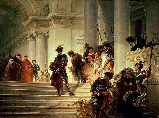 Cesare Borgia leaving the Vatican, by Giuseppe Lorenzo Gatteri. - headstuff.org
