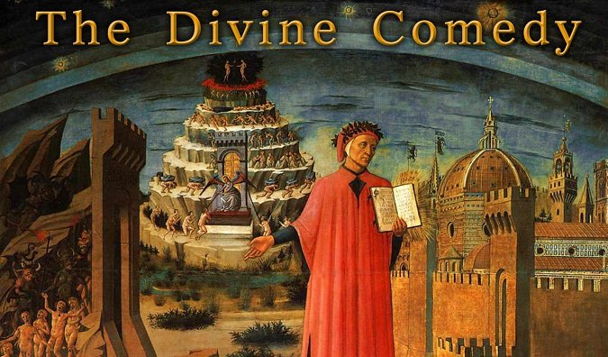 The Divine Comedy was one of many works inspired by religon