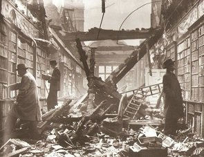 Bomb damage to Holland House during World War 2 - headstuff.org