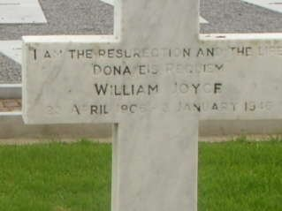 Photo of William Joyce's tombstone in Bohermore cemetery in Galway - headstuff.org