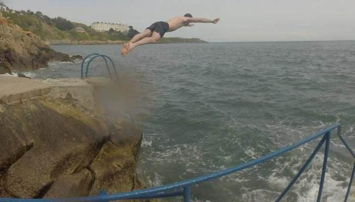 swimming in the sea in dublin