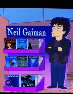 Neil Gaiman in The Simpsons