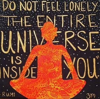A quote exemplifying Rumi's mystic philosophy