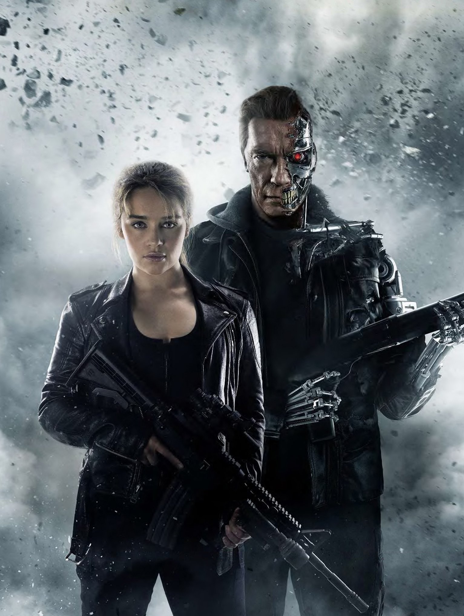 Sarah Connor and Arnie - HeadStuff.org