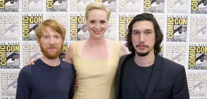 Domhnall Gleeson, Gwendoline Christie and Adam Driver from Star Wars Episode VII at Comic-con 2015 - HeadStuff.org