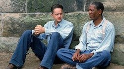 Tim Robbins and Morgan Freeman - HeadStuff.org