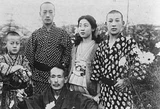 Yoshiko Kawashima with her brothers and foster-father - headstuff.org