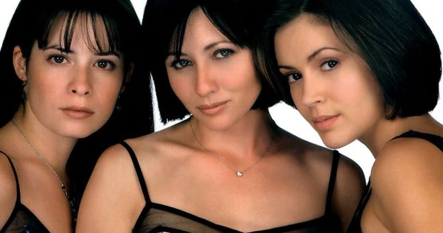 Holly Marie Combs, Shannen Doherty and Alyssa Milano in Charmed