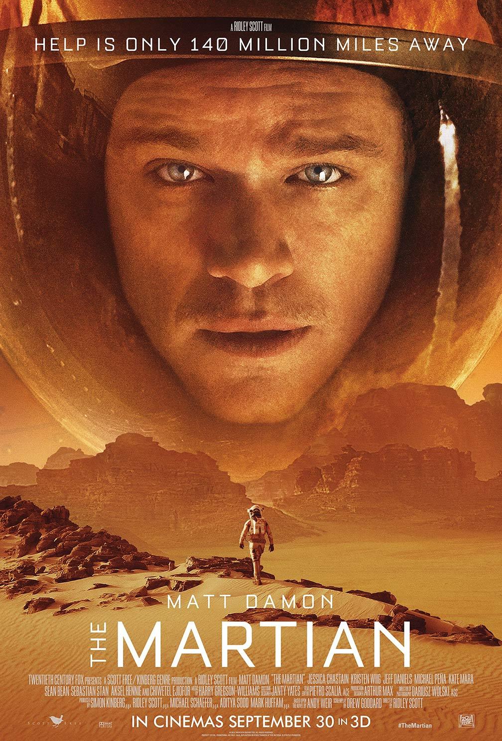The Martian Poster Matt Damon - Headstuff.org