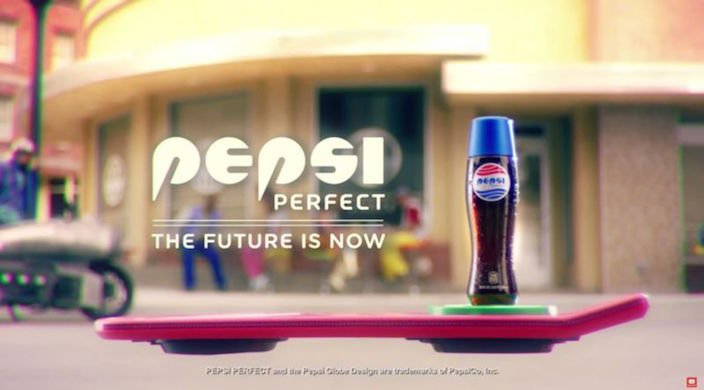 Pepsi on hoverboard
