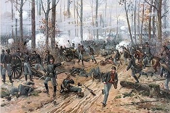 The Battle of Shiloh, by Thure de Thulstrup. - headstuff.org