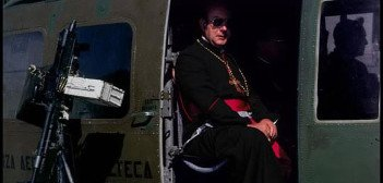 Priest in helicopter - HeadStuff.org
