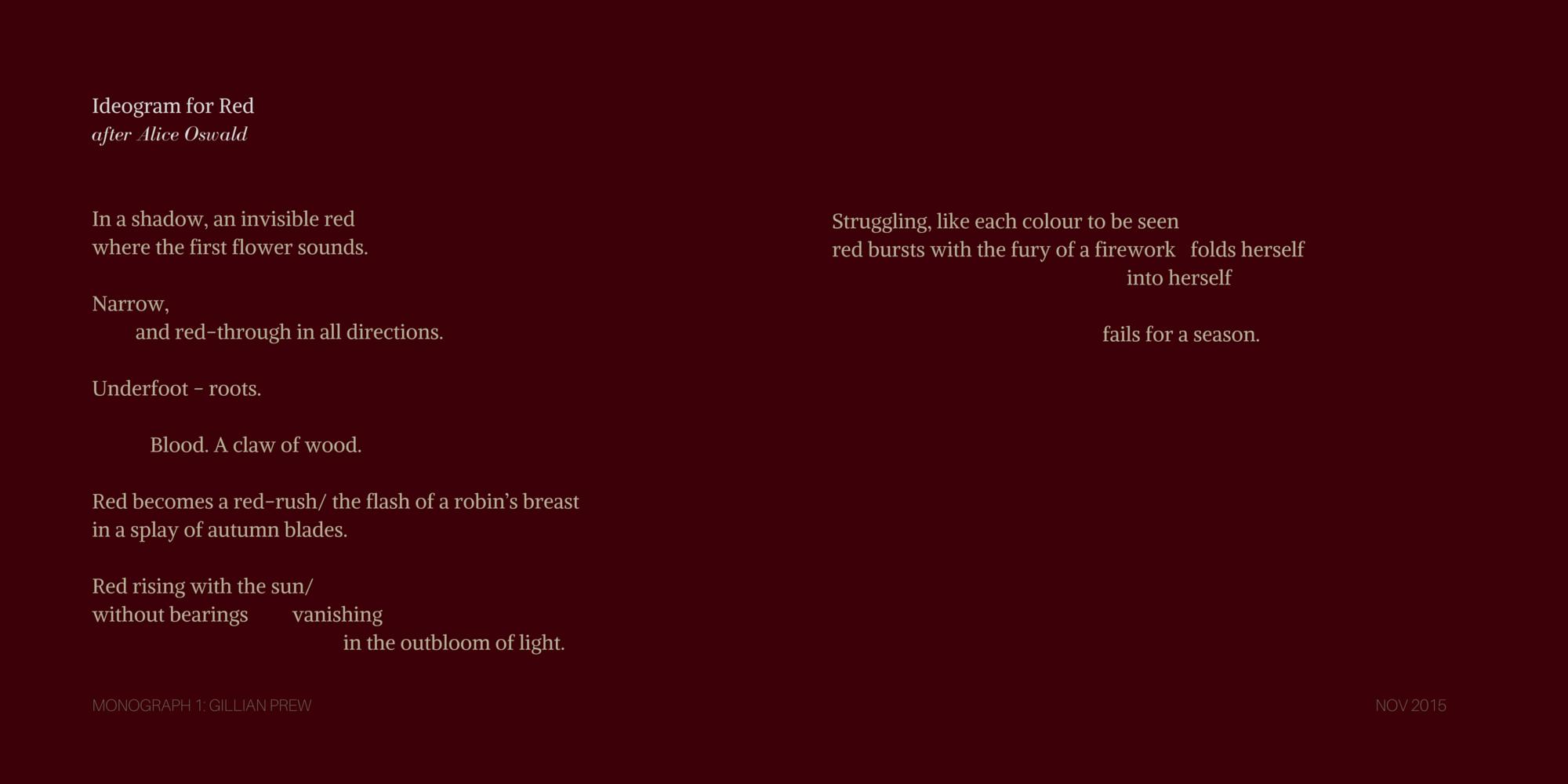 Poetry Monograph 1: Gillian Prew - Headstuff.org