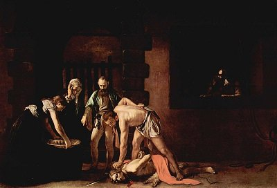 The Beheading of St John by Caravaggio - headstuff.org