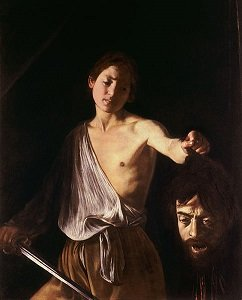 David With The Head of Goliath by Caravaggio - headstuff.org