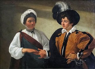 The Fortune Teller by Caravaggio - headstuff.org