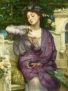 Lesbia With The Sparrow, by Edward Poynter - headstuff.org