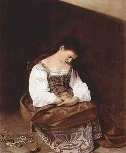 Penitent Magdalene by Caravaggio - headstuff.org