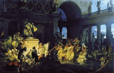 Roman Orgy, by Henryk Siemiradzki- headstuff.org