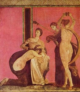 Mural from the Villa of Mysteries in Pompeii. - headstuff.org