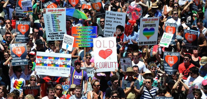 Marriage equality protest - HeadStuff.org