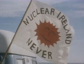 The flag of the movement to oppose nuclear energy