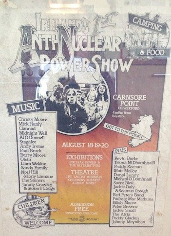 A poster for the Carnsore Point festival in 1978