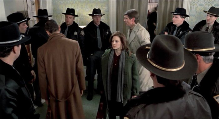 ClariceStarling surrounded by the Male Gaze in Silence of the Lambs - Headstuff.org