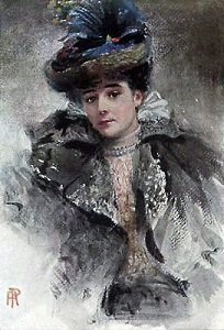Portrait of Lady Campbell by Percy Anderson - headstuff.org