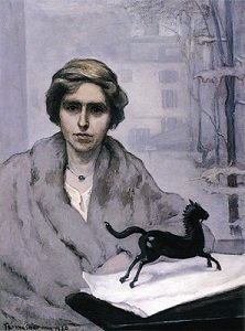 Painting of Natalie Clifford Barney by Romaine Brooks - headstuff.org